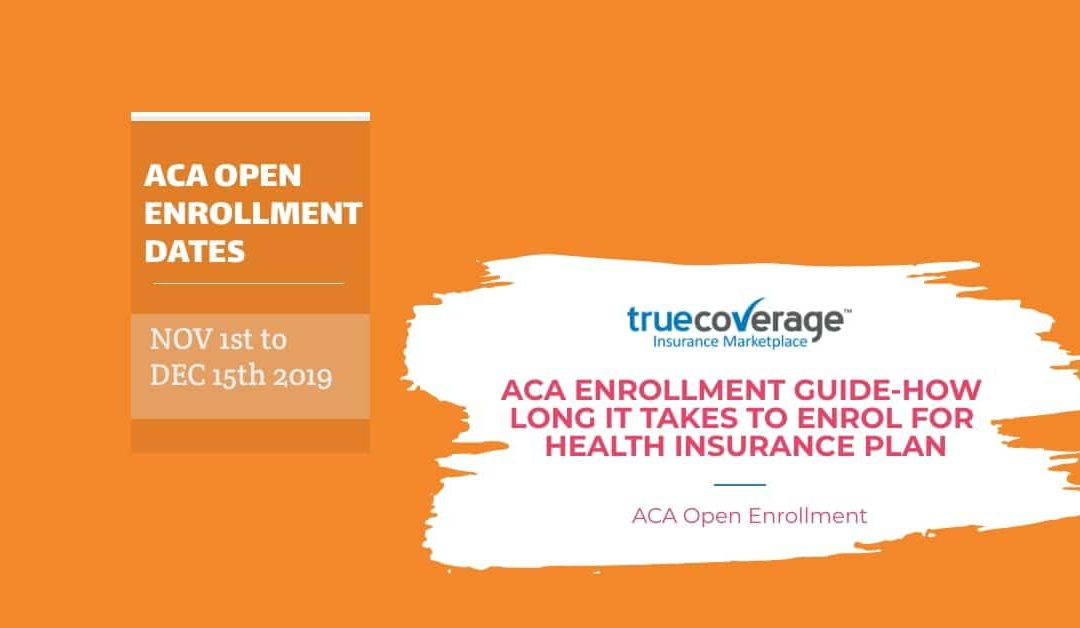 ACA Open enrollment guide-How long it takes to enroll?