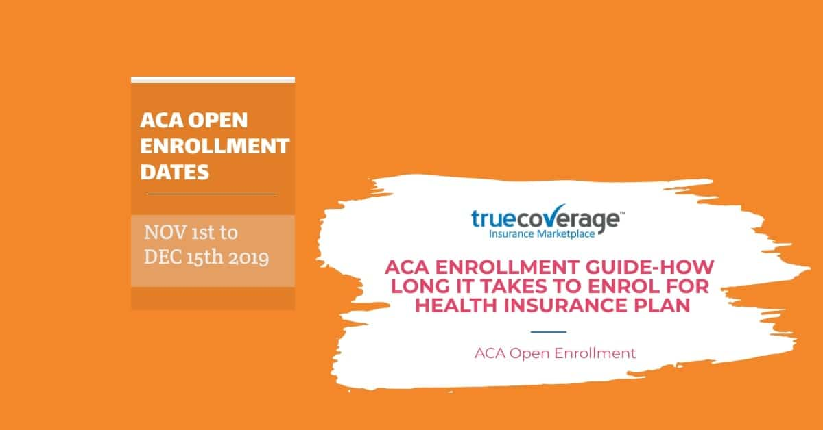 ACA open enrollment guide how long it take to enrol