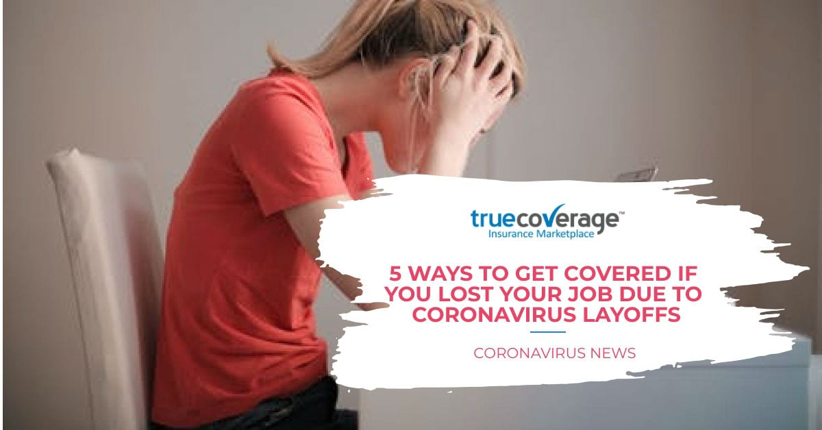 lost job or lost health insurance due to coronavirus
